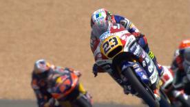 Niccolo Antonelli eroberte die Pole Position zum Frankreich GP. Brad Binder und Aron Canet starten mit ihm aus Reihe eins.