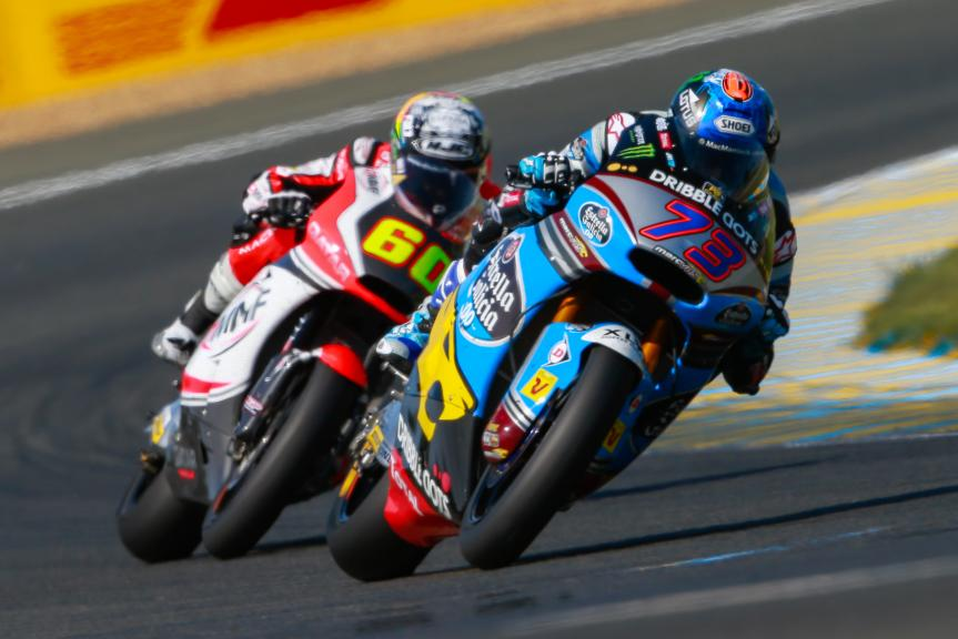 Alex Marquez, Estrella Galicia 0,0 Marc VDS, Julian Simon, QMMF Racing Team, Monster Energy Grand Prix de France