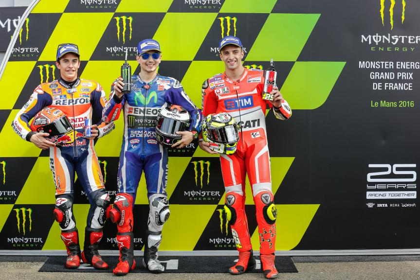 Jorge Lorenzo, Marc Marquez, Andrea Iannone, Monster Energy Grand Prix de France