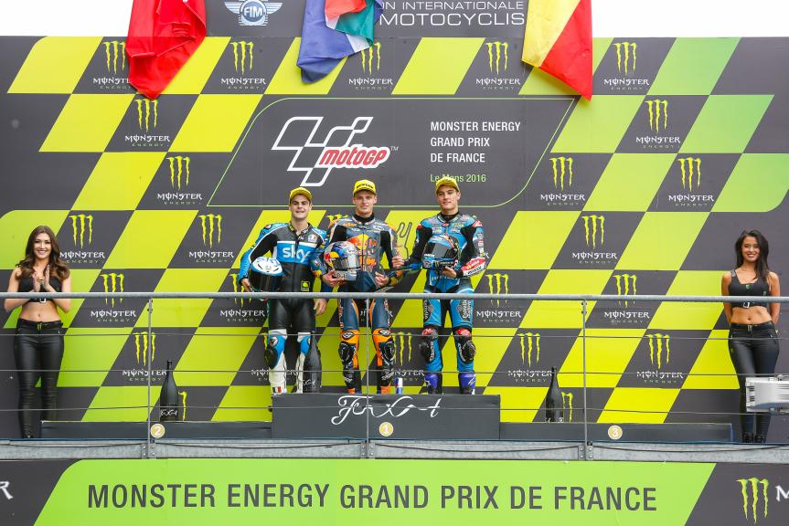 Brad Binder, Romano Fenati, Jorge Navarro, Monster Energy Grand Prix de France
