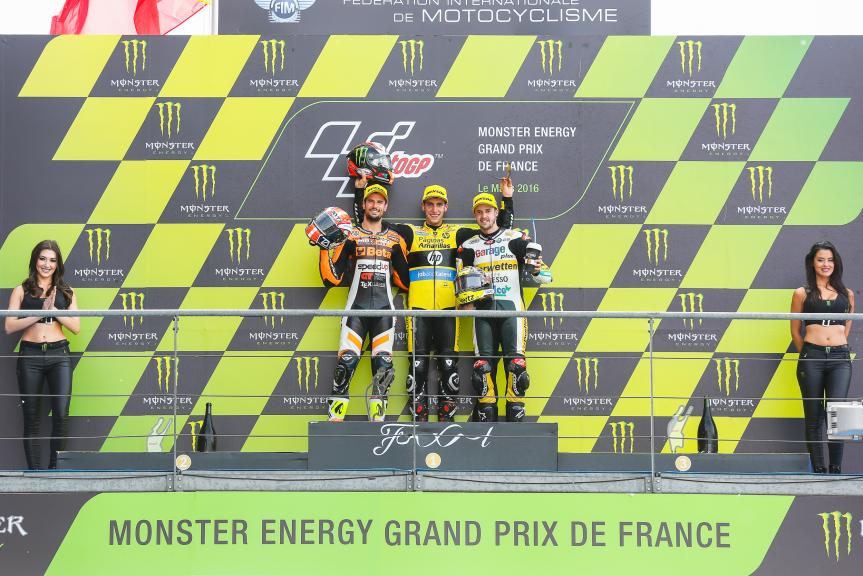Alex Rins, Simone Corsi, Thomas Luthi, Monster Energy Grand Prix de France