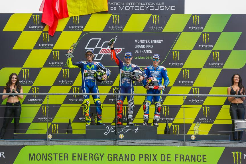 Jorge Lorenzo, Valentino Rossi, Maverick Viñales, Monster Energy Grand Prix de France