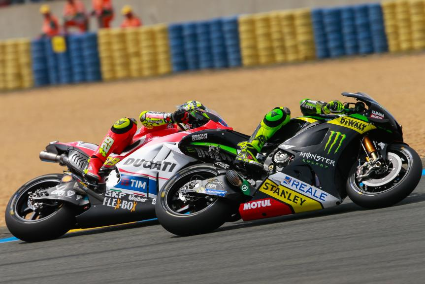 Andrea Iannone, Ducati Team, Pol Espargaro, Monster Yamaha Tech 3, Monster Energy Grand Prix de France