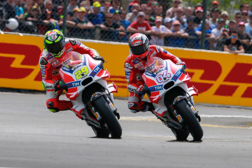 Andrea Iannone, Andrea Dovizioso, Ducati Team, Monster Energy Grand Prix de France