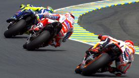 Valentino Rossi fought his way back from 8th on the opening lap to secure his 178th premier class podium after an incredible ride at Le Mans.