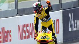 Il pilota catalano vince il GP di Francia. Ottimo Corsi secondo e terzo Luthi.