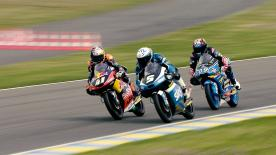 第5戦フランスGPの中量級と軽量級からパッシングシーンを選出。   1. Brad Binder (Moto3) - 48 points 2. Maria Herera (Moto3) - 46 points 3. Hafizh Syahrin (Moto2) - 38 points 4. Dominique Aegerter (Moto2) - 33 points 5. Xavier Simeon (Moto2) - 33 points