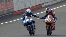 Due vittorie in due gare per Binder che fa sua la prova a Le Mans davanti a Fenati e Navarro.