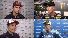 The fastest MotoGP™ riders give us feedback on their race results at the #FrenchGP.
