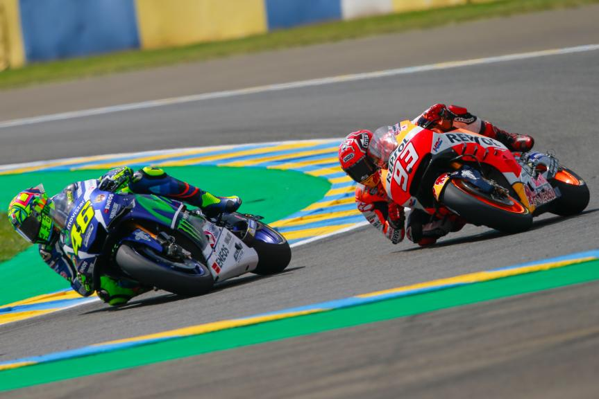 Valentino Rossi, Movistar Yamaha MotoGP, Marc Marquez, Repsol Honda Team, Monster Energy Grand Prix de France