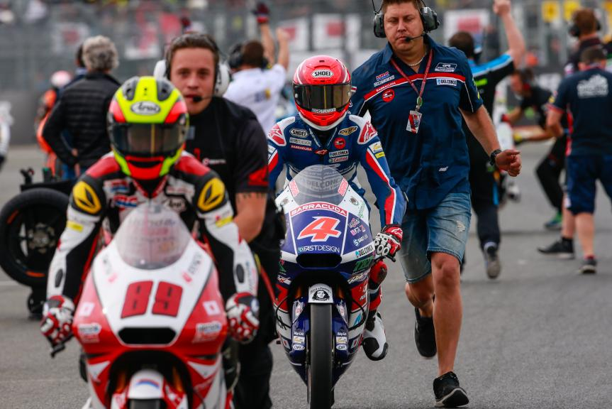 Fabio Di Giannantonio, Gresini Racing Moto3 and Khairul Idham Pawi, Honda Team Asia, Monster Energy Grand Prix de France