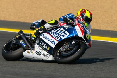 "Barbera: ""It's hard to make this bike turn"""
