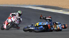 A detailed look at the cause and effect of the noteworthy crashes of the #FrenchGP.