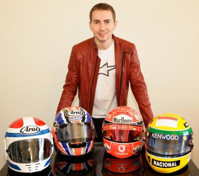 Lorenzo stellt Weltmeisterkollektion vor