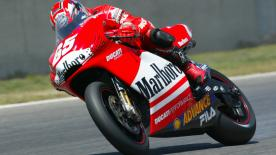 Loris Capirossi remembers when he took the first MotoGP™ victory for Ducati after their return to the World Championship in 2003.