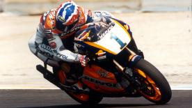 Relive Mick Doohan's five consecutive 500cc titles to celebrate the 25th anniversary of the collaboration of the FIM, IRTA, MSMA and Dorna.