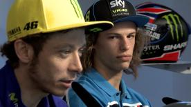 SKY Racing Team VR46's Moto3™ rookie Nicolo Bulega discusses his relationship with mentor Valentino Rossi ahead of the Italian GP.