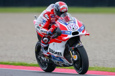 "Dovizioso: ""I was forced to ride in an unnatural position"""