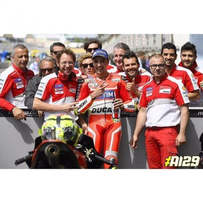 Thanks to #Ducati and the guys on my team for
