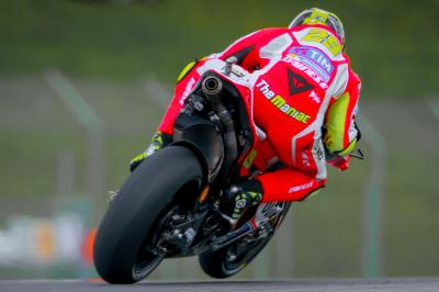 Iannone ignites at Ducati's home to top FP2