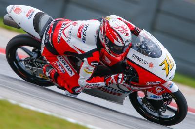Hiroki Ono, el más rápido del primer día en Moto3™
