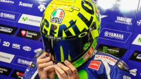 Saturday at the Italian GP saw Valentino Rossi unveil the latest in a long line of Aldo Drudi designed helmets for his home race.