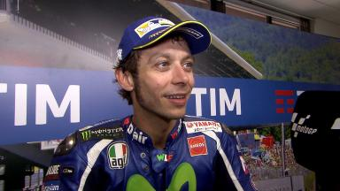 Rossi: 'His slipstream helped me'