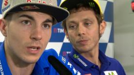 At the post qualifying press conference in Mugello Valentino Rossi and Maverick Viñales were asked about their tactics.