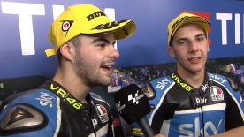 The two SKY VR46 riders finished on the top of the Moto3™ timesheets.
