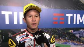 The Malaysian rider finished Moto3™ QP in third position in his first time at the Italian circuit.