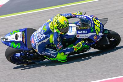 En piste avec Rossi en qualifications