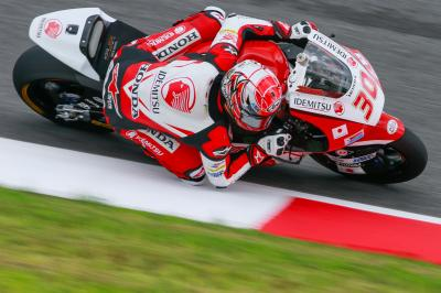 In form Nakagami shows intent in Warm Up