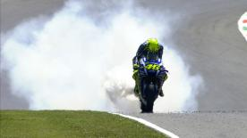 Valentino Rossi endured a disastrous Italian GP as he was forced to retire while battling for lead with Jorge Lorenzo.