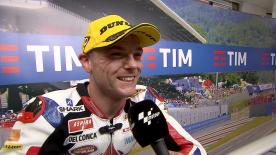 Sam Lowes claimed 3rd position in Mugello after a tricky race, not helped by the red flag and reduced race distance.