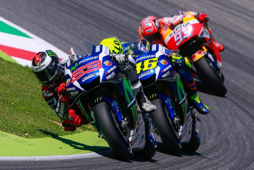 Valentino Rossi and Jorge Lorenzo, Movistar Yamaha MotoGrand Prix, Gran Premio d'Italia TIM