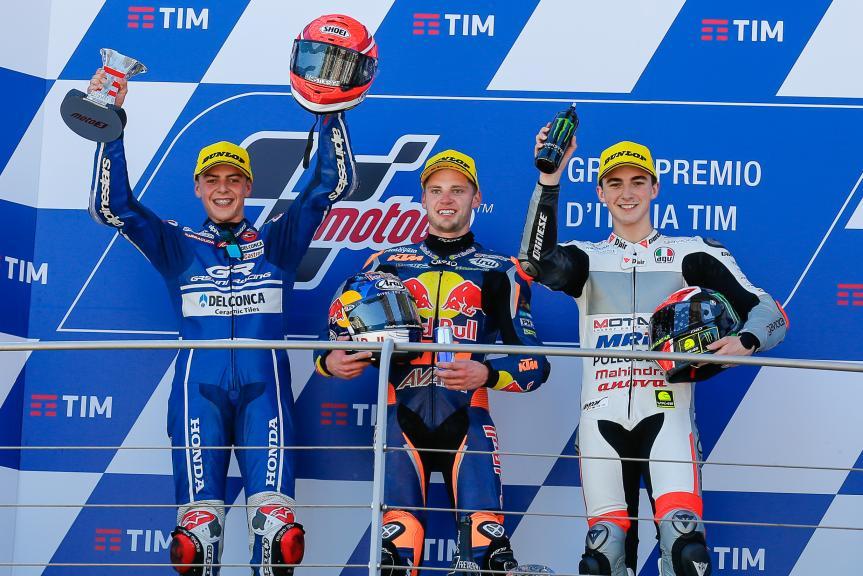 Brad Binder, Fabio Di Giannantonio, Francesco Bagnaia, Gran Premio d'Italia TIM