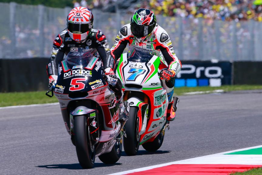 Johann Zarco y Lorenzo Baldassarri, Ajo Motorsport y  Forward Team, Gran Premio d'Italia TIM