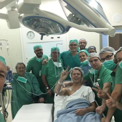 With all the team of doctors, Angel Charte and Xavier