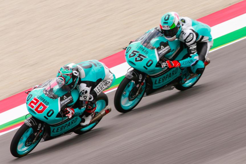 Andrea Locatelli, Leopard Racing, y  Fabio Quartararo, Leopard Racing, Test Mugello