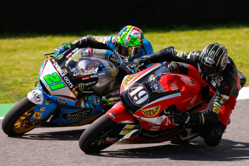 Axel Pons, AGR Team y Franco Morbidelli, Estrella Galicia 0,0 Marc VDS, Test Mugello