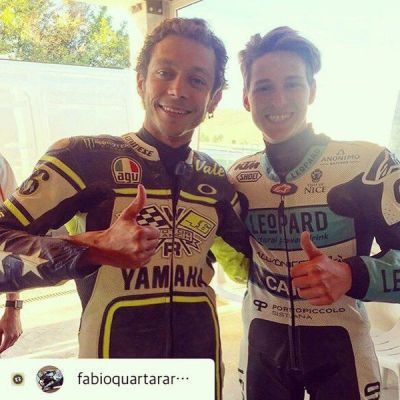 A special day at #motoranch for @FabioQ20 with landlord @ValeYellow46