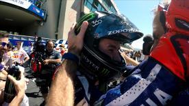 Jorge Lorenzos Sieg beim ItalianGP war der 100. Yamaha-Sieg seit Einführung der Viertakter in der MotoGP™ im Jahre 2002.