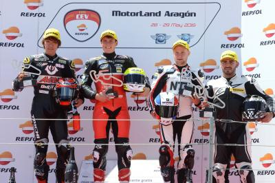 Five races produce three different winners in Aragon