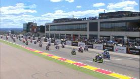 Highlights of the FIM CEV Repsol Moto3 race from Aragon.
