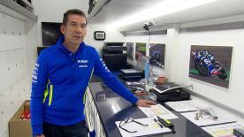 Antes del GP de Cataluña, motogp.com hablaba con el responsable de recambios en la formación Team Suzuki Ecstar, Russell Jordan, para descubrir la importancia de su papel.