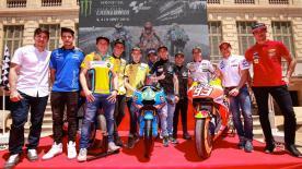 Zahlreiche Fahrer waren am Dienstag zur offiziellen Präsentation des Gran Premi Monster Energy de Catalunya in Barcelona.
