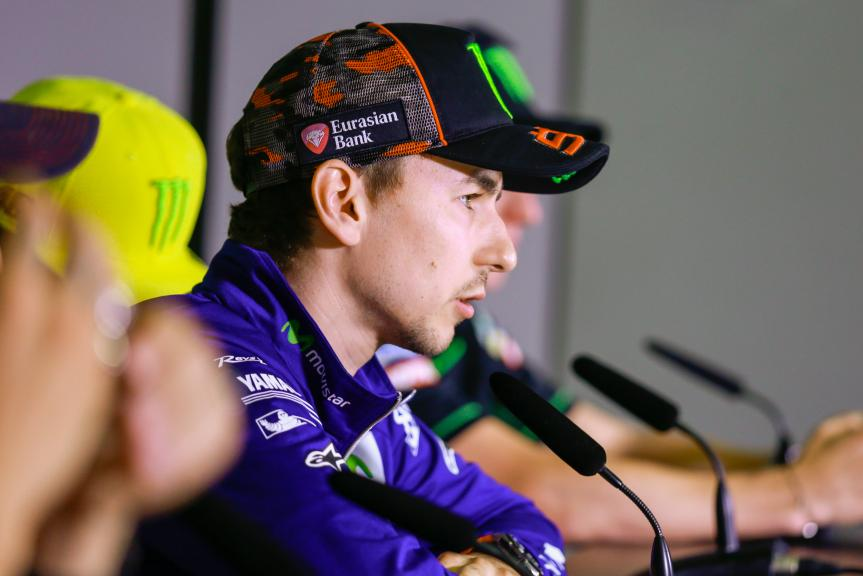Jorge Lorenzo, Press conference Gran Premi Monster Energy de Catalunya