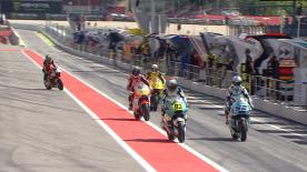 La prima sessione di prove libere per la Moto2™ sulla pista di Montmeló.