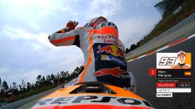 Relive Marquez's pole setting lap at the Circuit de Catalunya, complete with telemetry data.
