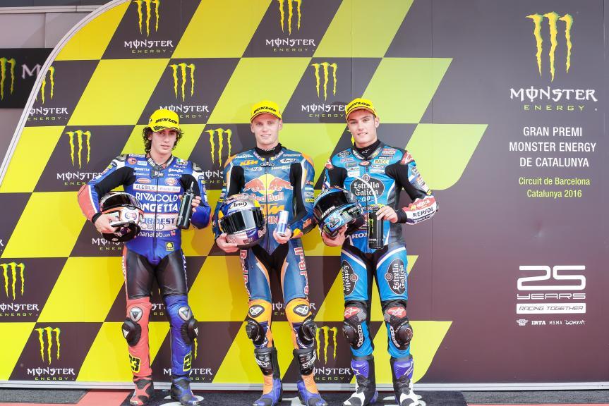 Brad Binder, Niccolò Antonelli, Jorge Navarro, Gran Premi Monster Energy de Catalunya